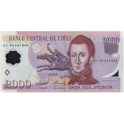 2004 - Chile P160a billete de 2.000 Escudos