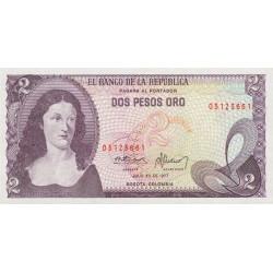 1976 - Colombia P413b 2 Pesos Oro banknote