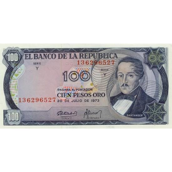 1974 - Colombia P415 100 Pesos Oro banknote
