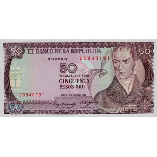 1985 - Colombia P425a 50 Pesos Oro banknote