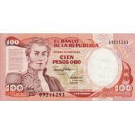 1991 - Colombia P426e 100 Pesos Oro banknote