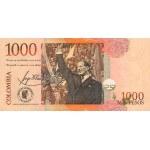 2001 - Colombia P450 1,000 Pesos Oro banknote