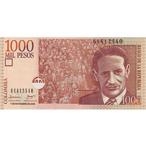 2005 - Colombia P456b billete de 1.000 Pesos