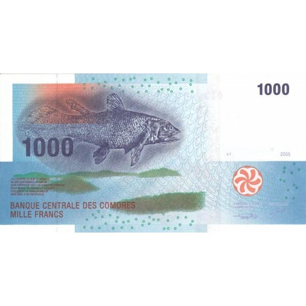 2005 - Comores pic 16 billete de 1000 Francos