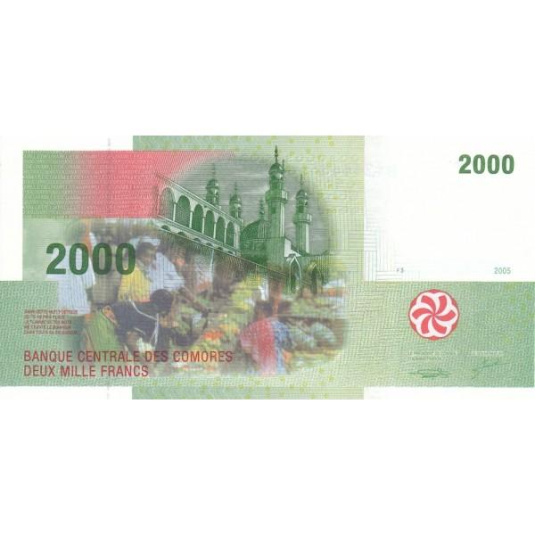 2005 - Comores pic 17 billete de 1000 Francos