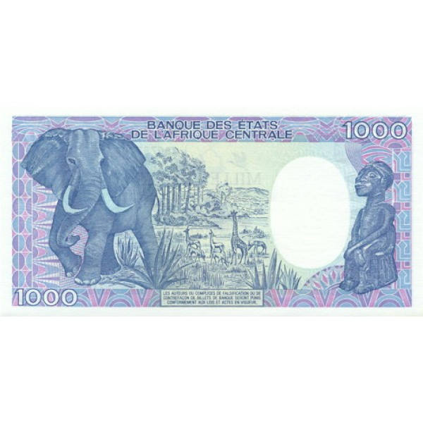 1992-  Congo,  Pic 11   1000 Francs banknote