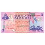 1992 - Islas Cook P7 billete de 3 Dólares