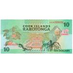 1992 - Cook Islands P8 10 Dollars  banknote