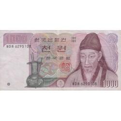 1982 - South_Korea  PIC 47     1000 Won  banknote