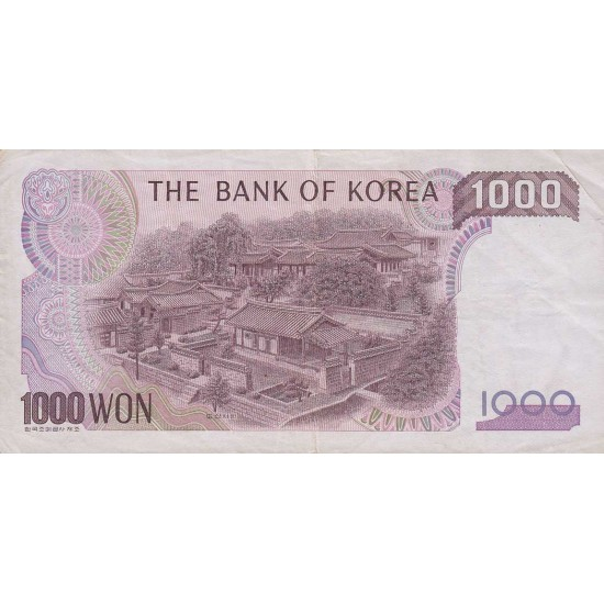 1982 - South_Korea  PIC 47     1000 Won  banknote