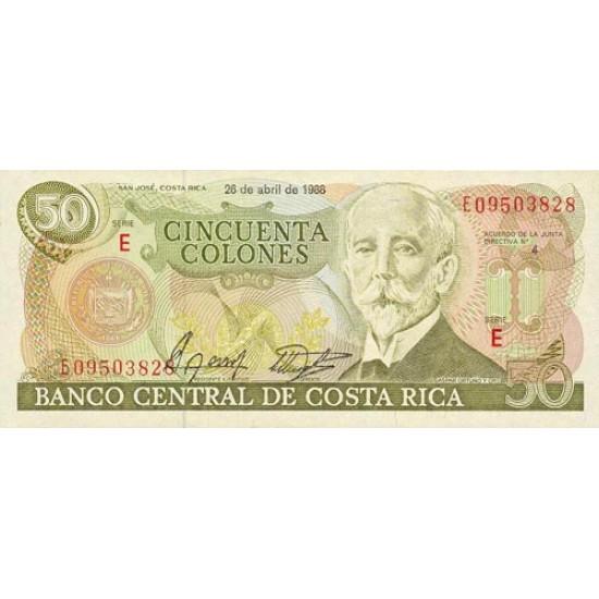 1988 - Costa Rica P253 50 Colones banknote