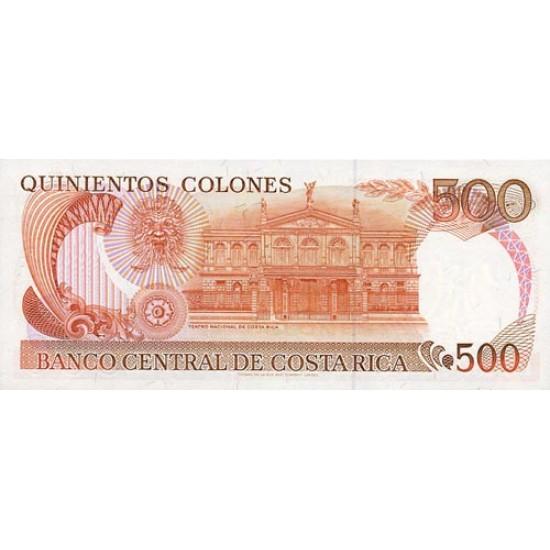 1989 - Costa Rica P255 500 Colones banknote