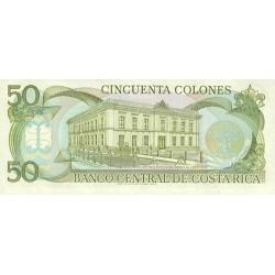1991 - Costa Rica P257 50 Colones banknote