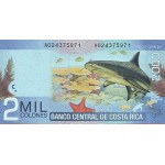 2009 - Costa Rica P275 billete de 2.000 Colones