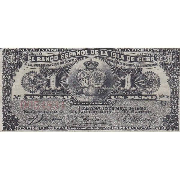 1896 - Cuba P47 Billete de 1 Peso 1 Peso (EBC)