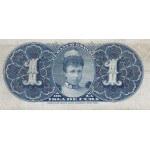 1896  - Cuba P47 1 Peso banknote (VF) banknote