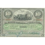 1896 - Cuba Pic 49  10 Pesos banknote (VF)