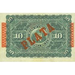 1896 - Cuba Pic 49d 10 Pesos  banknote