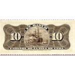 1897 - Cuba P52 billete de 10 Centavos