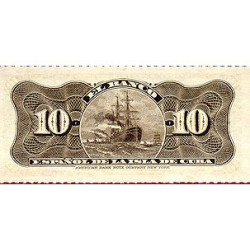 1897 - Cuba P52  10 Centavos banknote