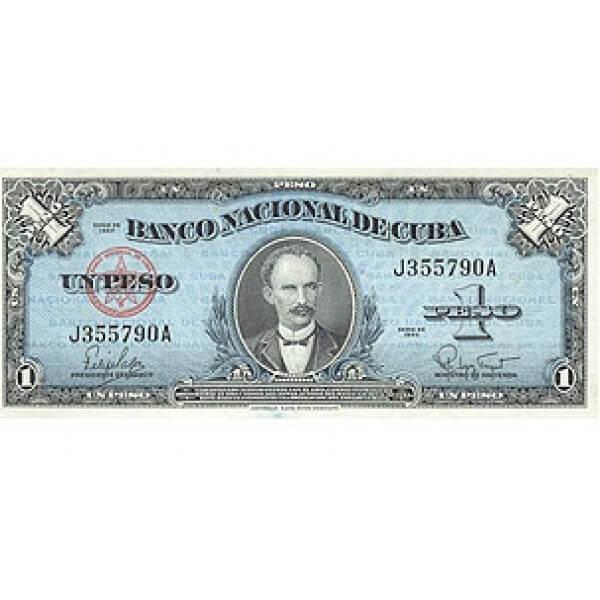 1949 -  Cuba Pic 77a 1 Peso  banknote