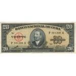 "1960 - Cuba P80c  20 Pesos ( With  ""Che"" signature )"