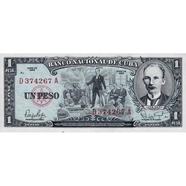 1959 - Cuba P90 billete de 1 Peso
