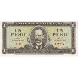 1966 - Cuba P100 1 Peso banknote