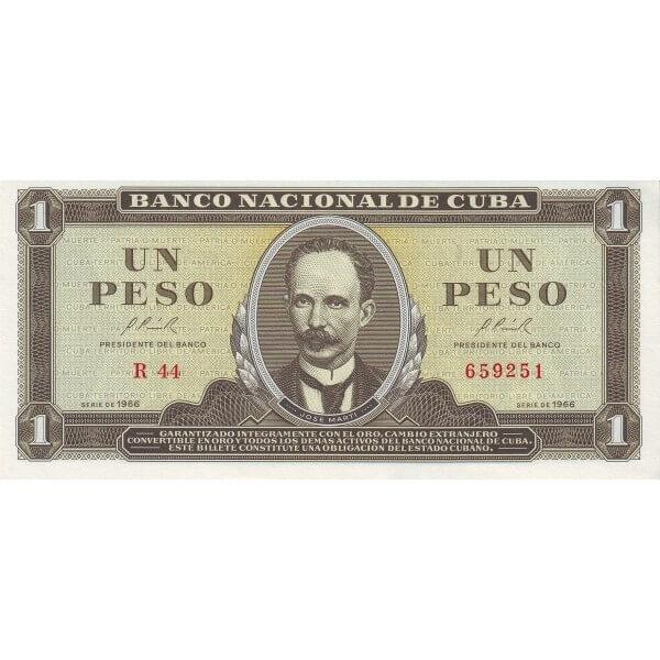 1966 - Cuba P100 billete de 1 Peso