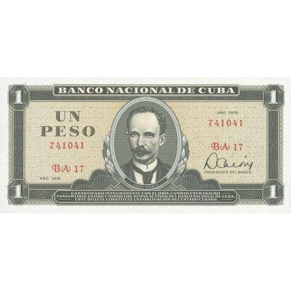 1985 - Cuba P102b billete de 1 Peso