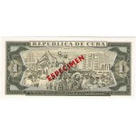 1978 - Cuba P102bs1 billete de 1 Peso Especimen