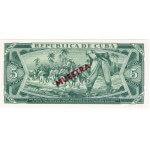 1986 - Cuba P103c cs  billete de 5 Pesos (Muestra)