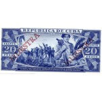 1978 - Cuba Pic 105s   20 Pesos  banknote Specimen