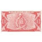 1988 - Cuba P107b billete de 3 Pesos