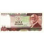 1991 - Cuba P109 billete de 10 Pesos