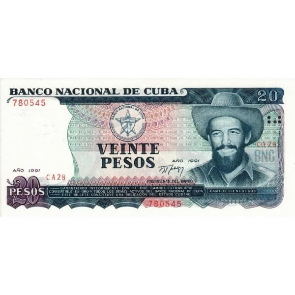 1991 - Cuba P110a billete de 20 Pesos