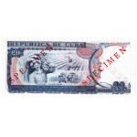 1991 - Cuba P110s billete de 20 Pesos Specimen