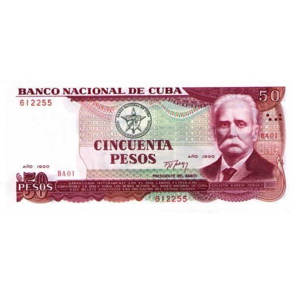 1990 - Cuba P111a billete de 50 Pesos