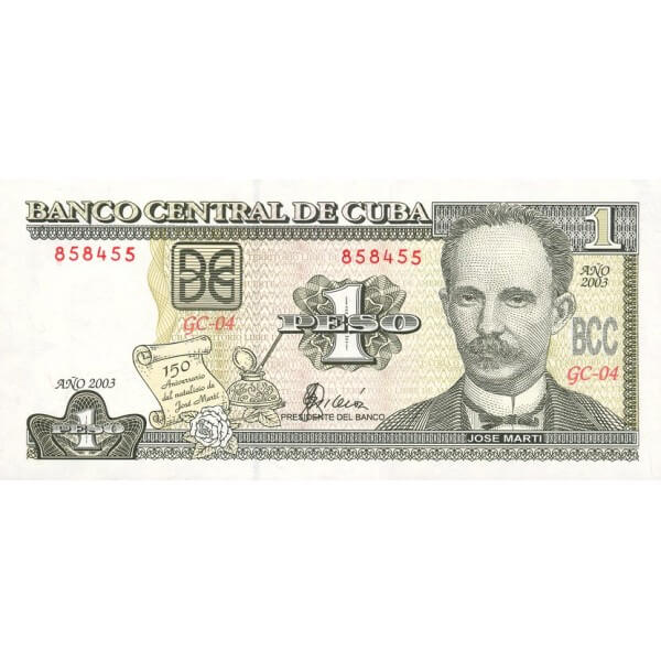 2003 - Cuba P125 billete de 1 Peso