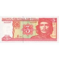 2004 - Cuba P127 3 Pesos  banknote
