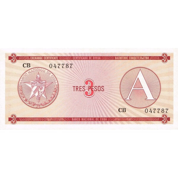 1985 - Cuba P-FX2 billete de 3 Pesos