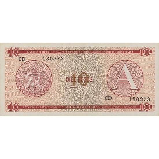 1985 - Cuba P-FX4 10 Pesos banknote