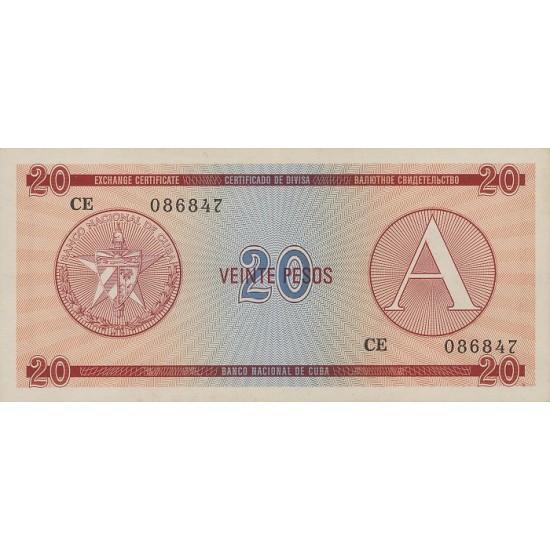 1985 - Cuba P-FX5 20 Pesos banknote