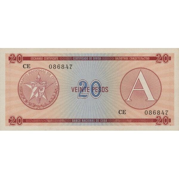 1985 - Cuba P-FX5 billete de 20 Pesos