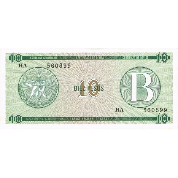 1985 - Cuba P-FX8 billete de 10 Pesos