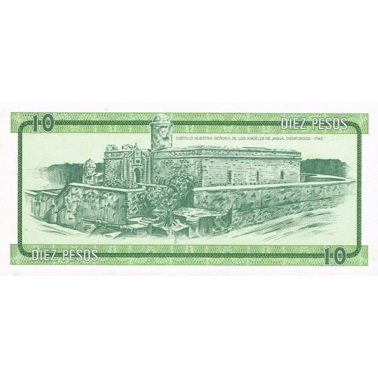 1985 - Cuba P-FX8 10 Pesos banknote