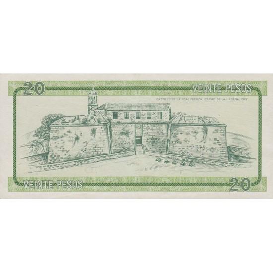 1985 - Cuba P-FX9  20 Pesos  banknote