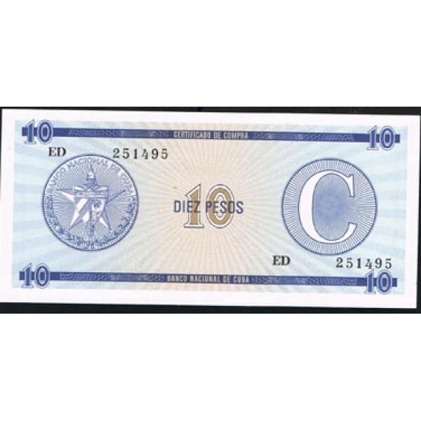 1985 - Cuba P-FX14 10 Pesos  banknote