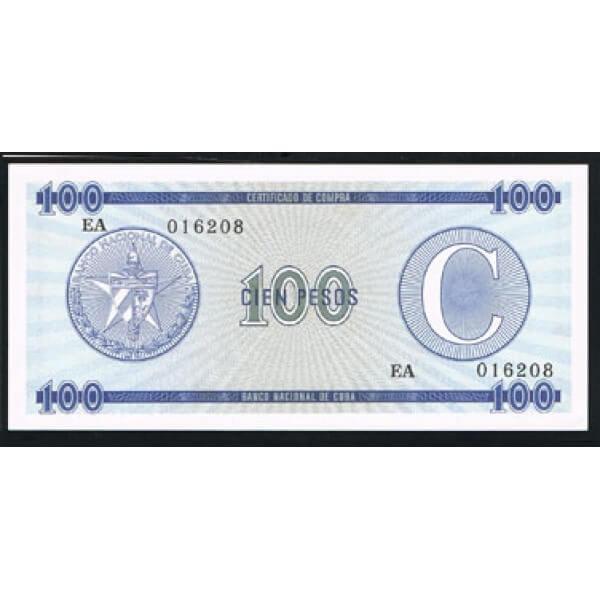 1985 - Cuba P-FX17 100 Pesos  banknote