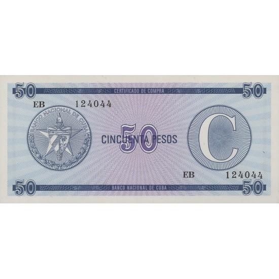 1985 - Cuba P-FX24 50 Pesos banknote